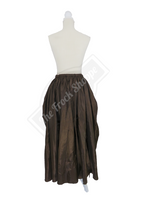 Brown High-Low Convertible Bustle Skirt