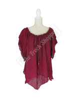 Burgundy Renee Blouse