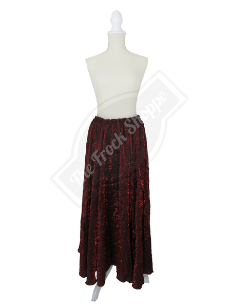 Burgundy Shimmer Catherine Skirt