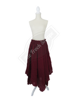 Burgundy Scarf Skirt