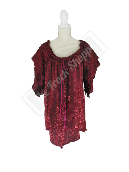 Burgundy Shimmer Renee Blouse