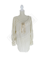 Cream Long Sleeve Peasant Blouse