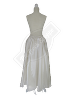 Cream High-Low Convertible Bustle Skirt