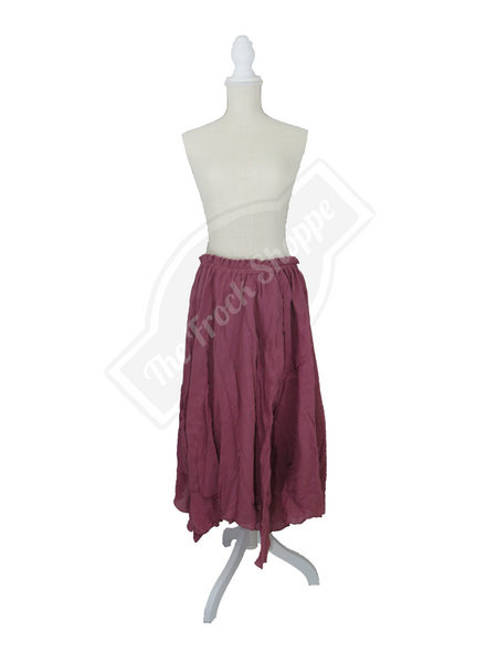 Dusty Rose Scarf Skirt