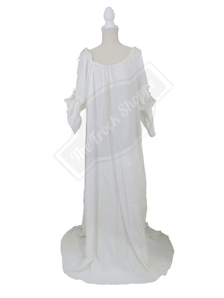 White Guinevere Gown