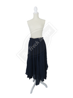Navy Scarf Skirt