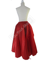 Red High-Low Convertible Bustle Skirt