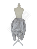 Silver High-Low Convertible Bustle Skirt