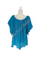 Teal Renee Blouse