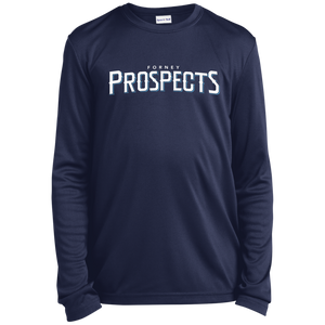 Forney Prospects WM Logo Youth Long Sleeve Moisture-Wicking T-Shirt