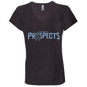 Prospects Wordmark Ribbon Ladies' Jersey V-Neck T-Shirt