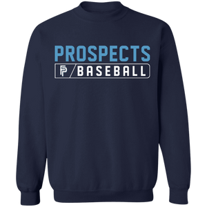 Prospects Baseball Bar Logo Crewneck Pullover Sweatshirt  8 oz.