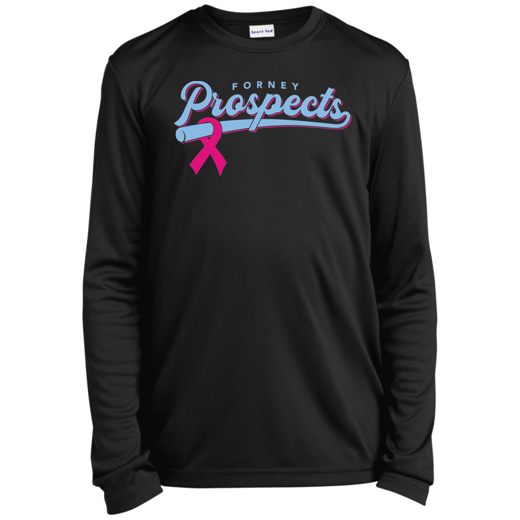 Prospects Ribbon Youth Long Sleeve Moisture-Wicking T-Shirt