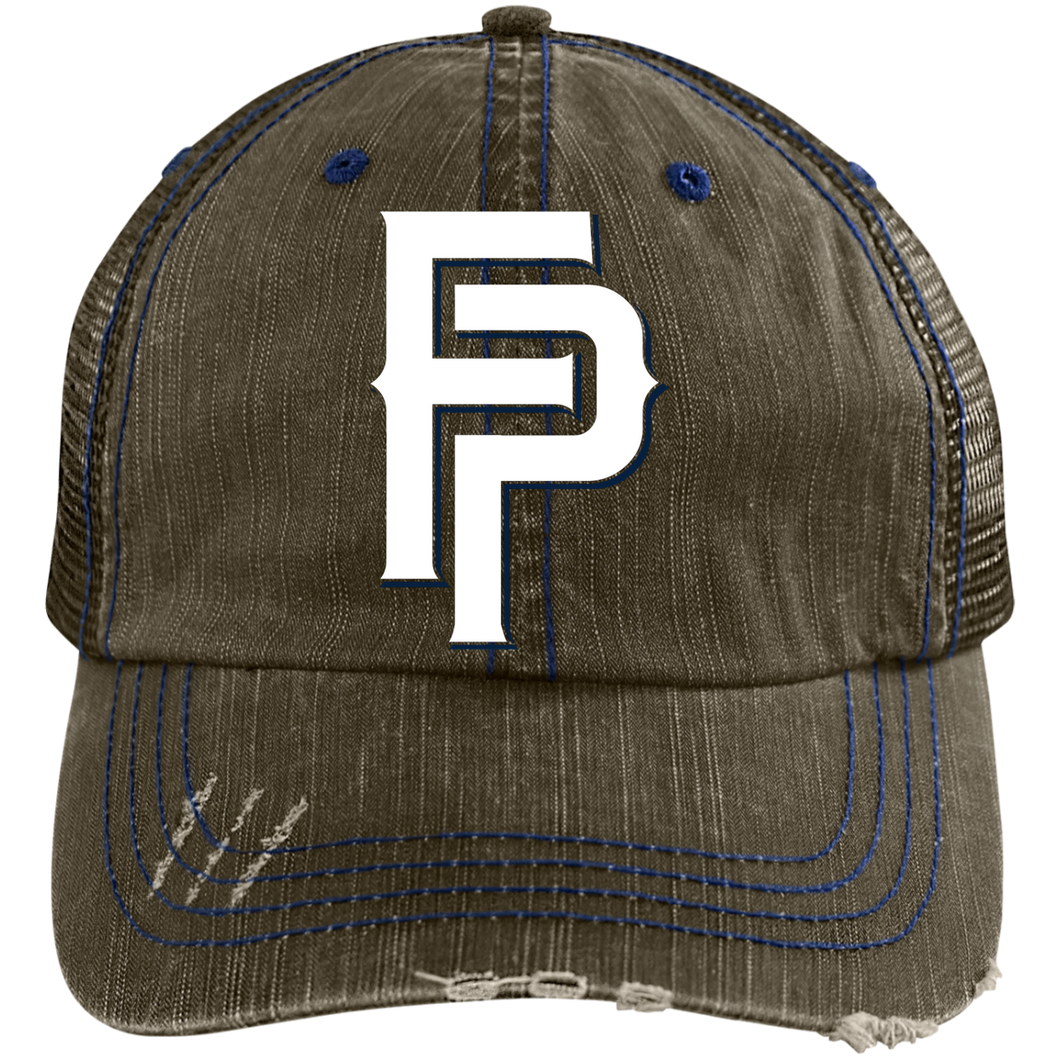 FP Logo Distressed Unstructured Trucker Cap