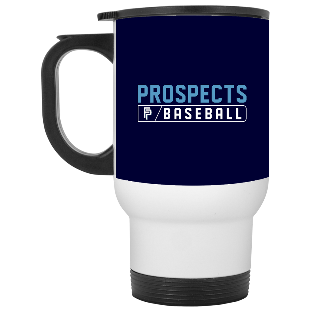 Prospects Baseball Bar Logo (Col) White Travel Mug