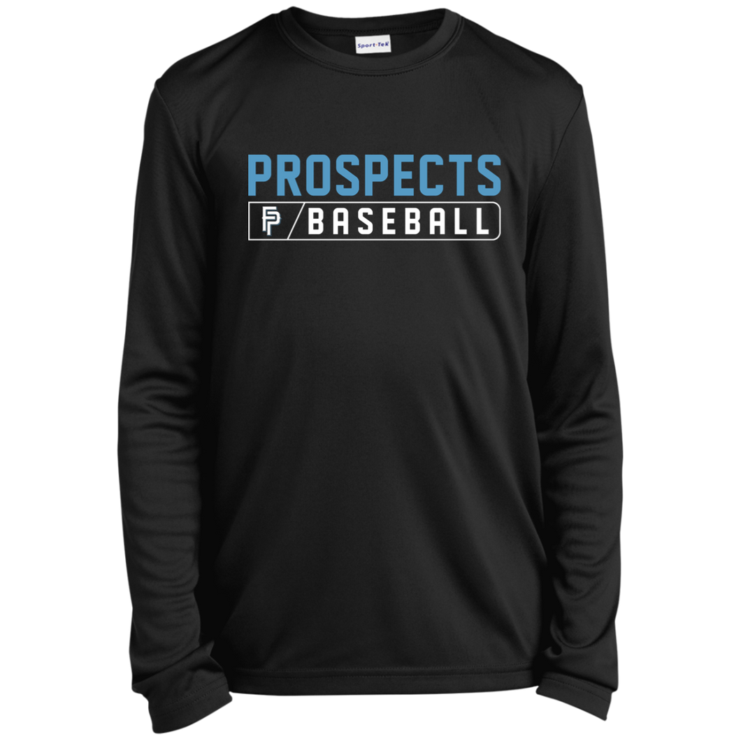 Prospects Bar Logo Youth Long Sleeve Moisture-Wicking T-Shirt