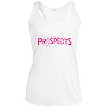 Load image into Gallery viewer, Prospects Wordmark Ribbon Ladies' Racerback Moisture Wicking Tank