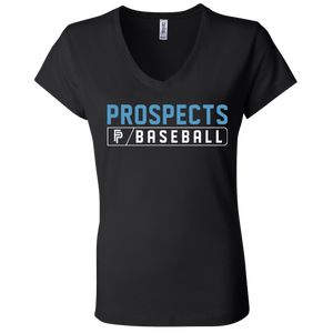 Prospects Bar Logo Ladies' Jersey V-Neck T-Shirt