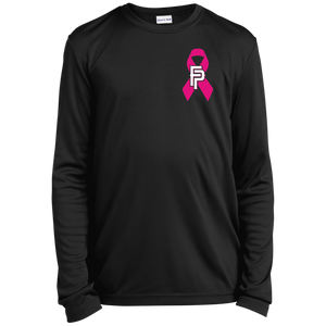 FP Ribbon Youth Long Sleeve Moisture-Wicking T-Shirt