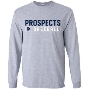 Prospects Baseball Bar Logo (navy) Youth LS T-Shirt