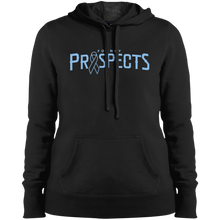 Load image into Gallery viewer, Prospects Wordmark Ribbon Ladies' Pullover Hooded Sweatshirt