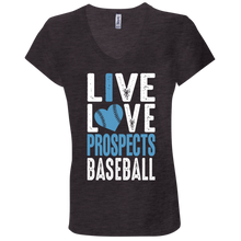 Load image into Gallery viewer, Live Love Prospects Ladies' Jersey V-Neck T-Shirt