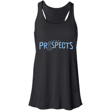 Load image into Gallery viewer, Prospects Wordmark Ribbon Flowy Racerback Tank