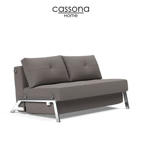 CUBED FULL SIZE SOFA BED WITH CHROME LEGS