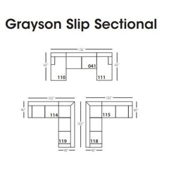 GRAYSON SLIPCOVER SECTIONAL
