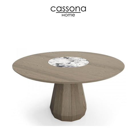 MEMENTO 54'' ROUND TABLE WHIT CENTER NATURAL STONE