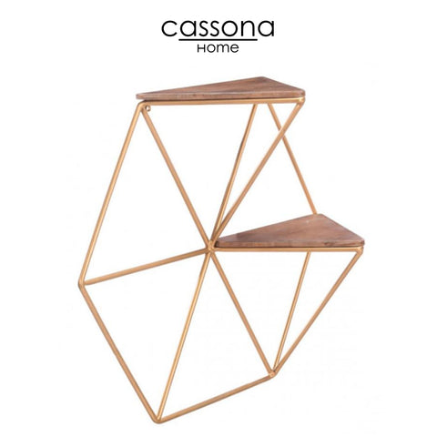 TRIANGLES SHELF GOLD