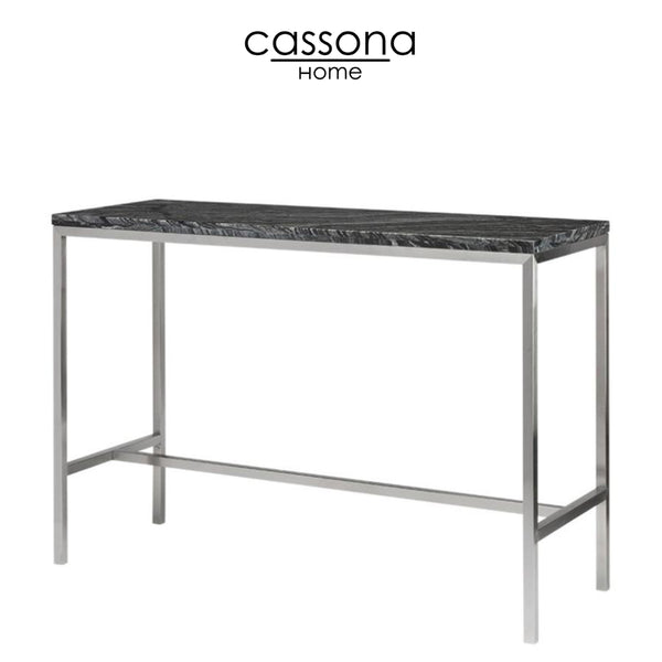VERONA BAR TABLE BLACK WOOD VEIN