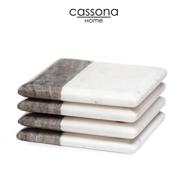 TWO TONE MARBLE COASTERS SQUARE