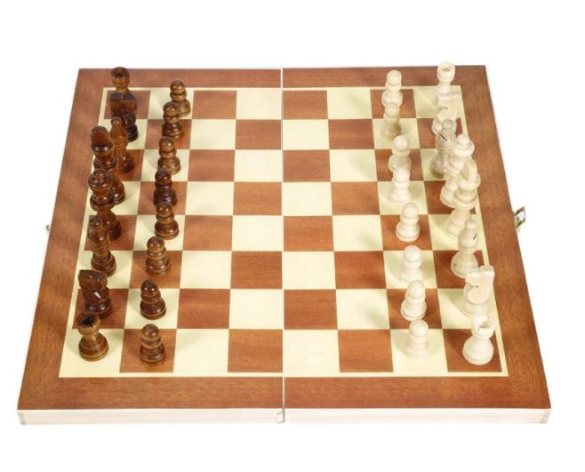 Foldable Wooden Chess Set for Adults and Kids