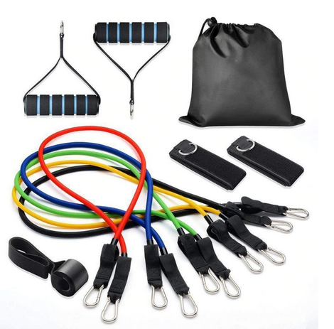 11 Piece Fitness Resistance Bands Set