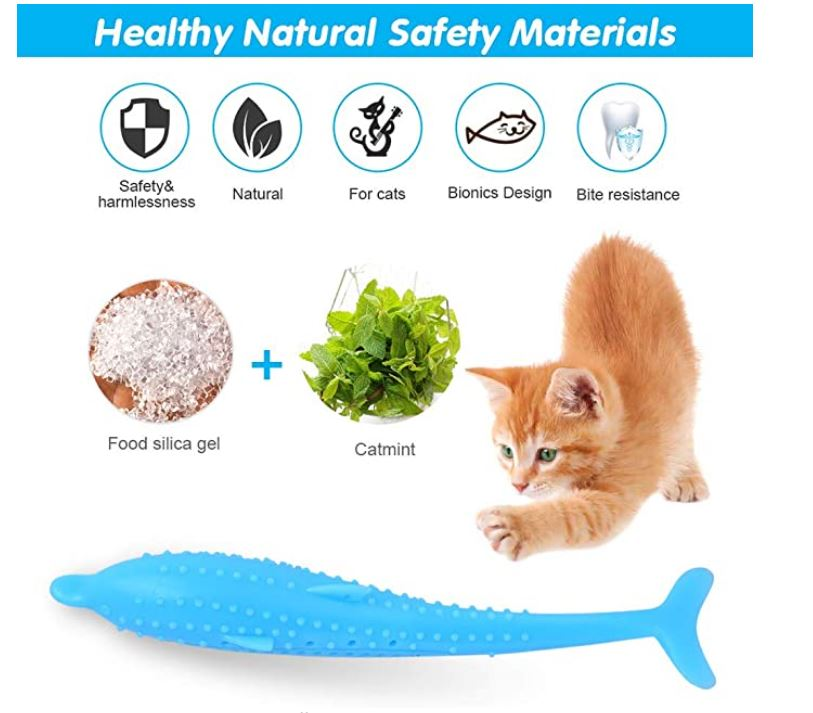 Soft Silicone Toy Fish for Cats