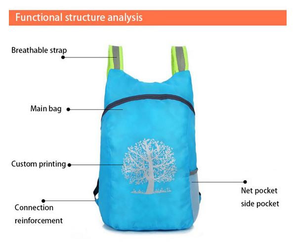 Unisex Ultra Light Waterproof Travel Foldable Outdoor Backpack