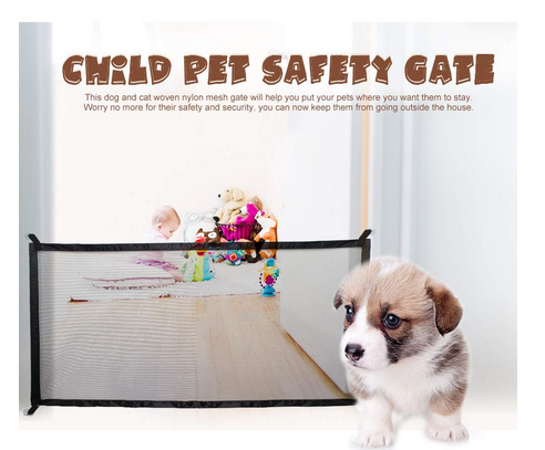 Retractable Mesh Magic Dog/Cat Gate Fence For Indoors
