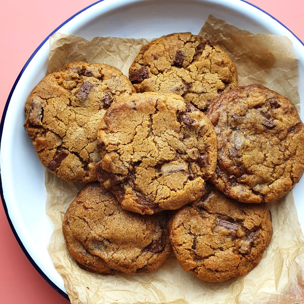 Bake-at-home Vegan Choc Chip Cookies