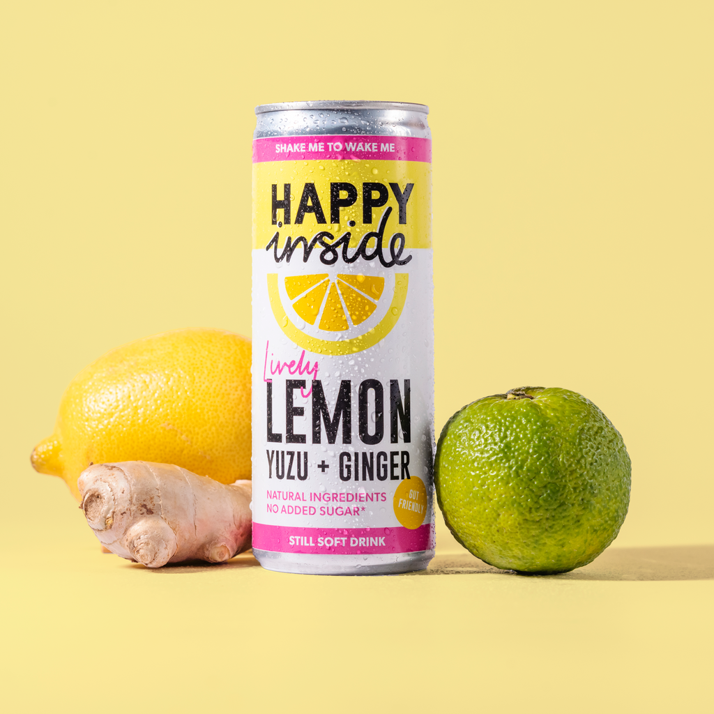 Happy Inside Lemon, Yuzu & Ginger 250ml
