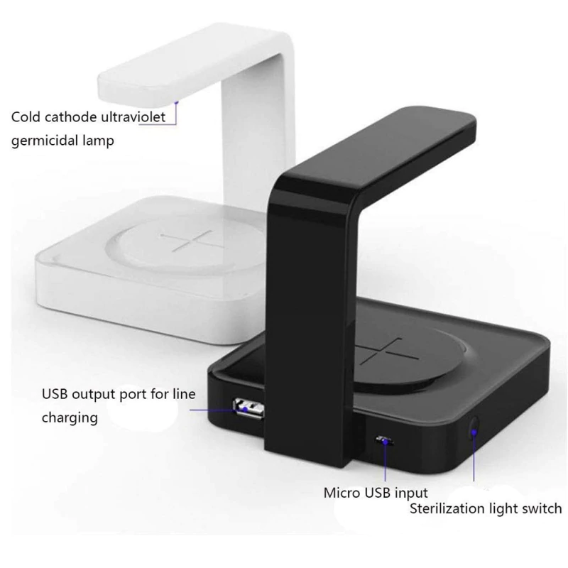2-in-1 UV Sanitizer And QI Fast Wireless Charger