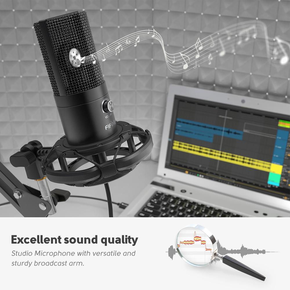 Professional USB Condenser Microphone Setup Kit