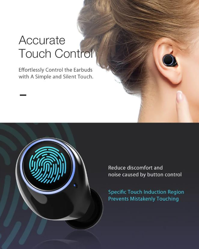 True Wireless Bluetooth 5.0 Earbuds