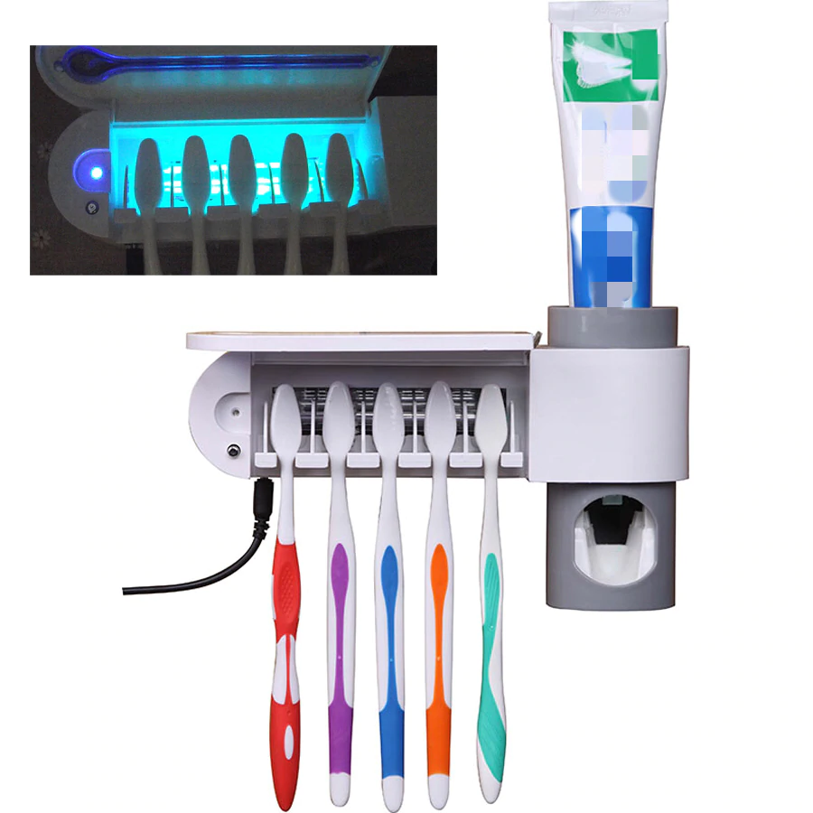 UV Sterilizing Toothbrush Holder - Kills Bacteria And Viruses