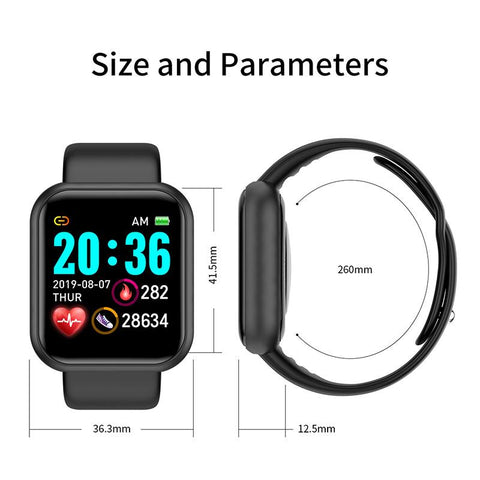 Smart Watch | Fitness, Blood Pressure & Heart Rate Tracker (KM20)