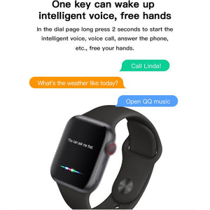 Smart Watch | Bluetooth Call - Full Touch Screen - Heart Rate - Blood Pressure (KMX7)