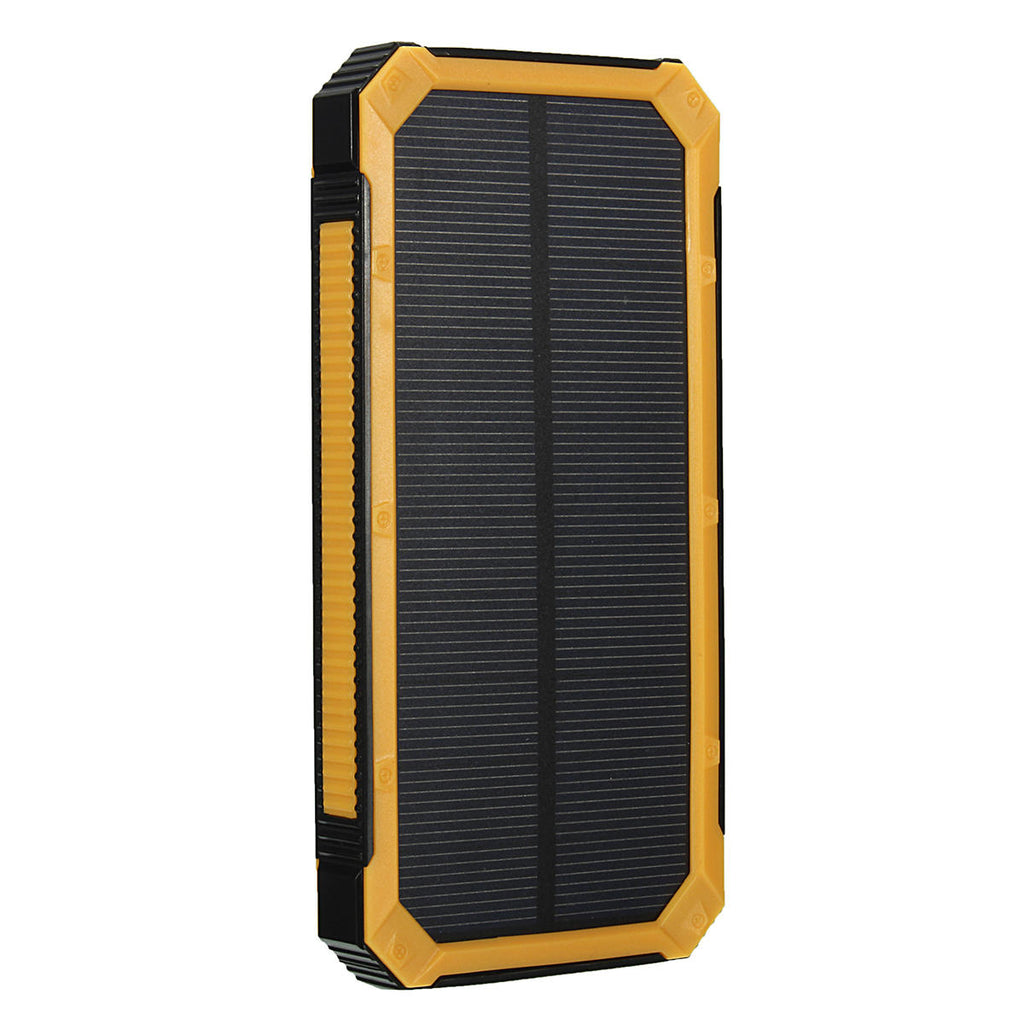 Emergency Solar Powered Power Bank - Waterproof 8000mAh USB Portable External Battery Charger With LED