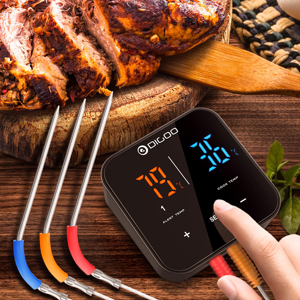 Wireless Bluetooth BBQ Thermometer - Kitchen And Grill - 3 Probes