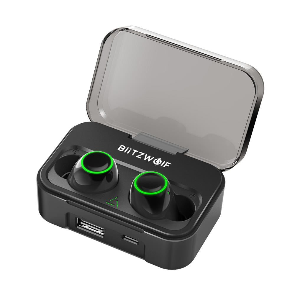 True Wireless Earbuds With Mic And 2600mAh Power Bank Bluetooth 5.0 Earphones Portable Battery Charger