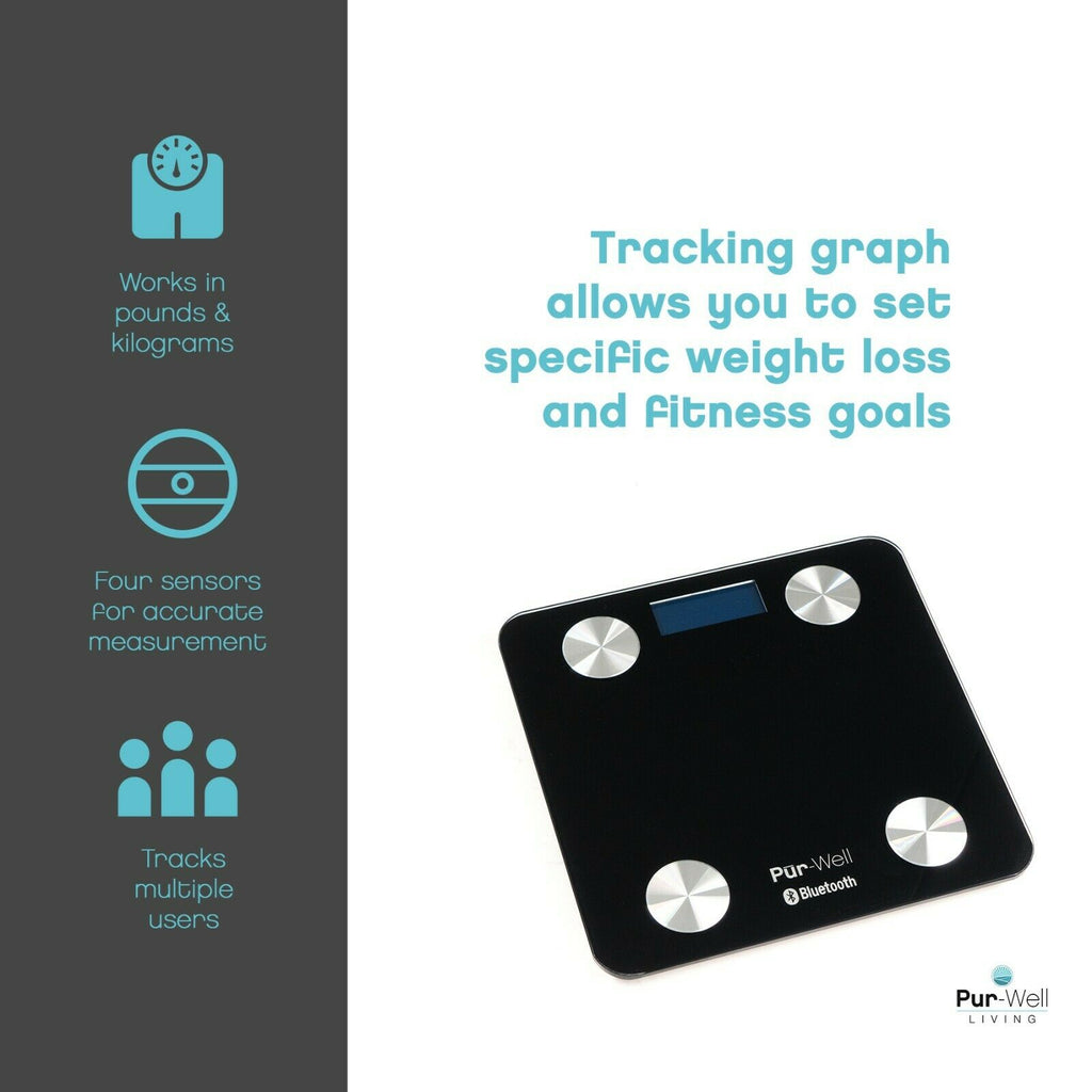 Body Fat Scale Smart BMI Scale Digital Bathroom Wireless Weight Scale, Body Composition Analyzer with Smartphone App sync with Bluetooth